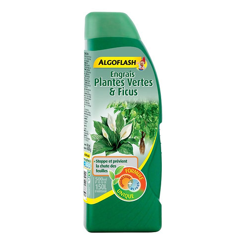 Engrais plantes vertes et ficus 500ml algoflash (Ref : T01810)
