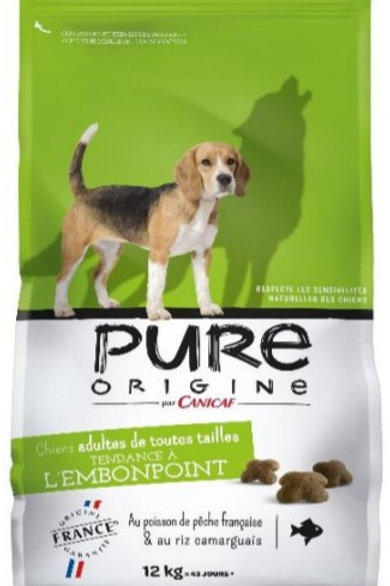 Pure orign embonpoint 12kg canicaf (ref : x60172)