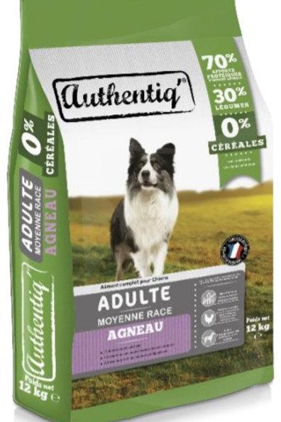Authentic adult chien moyen agneau.4kg (ref : x72549)