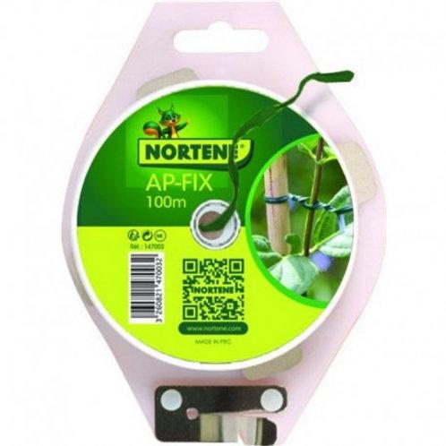 Lien plastique armé vert  100m (ref : 365783)