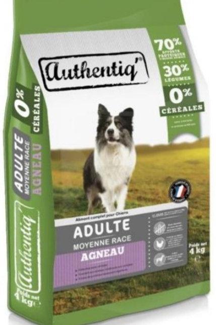 Authentic adult chien moyen agneau.12kg (ref : x72545)