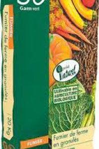 Fumier de ferme granulés 20kg Gamm Vert (ref : w75677)