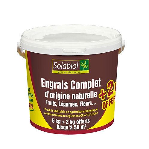 Engrais organique complet 5kg+2kg solabiol (ref : w03087)