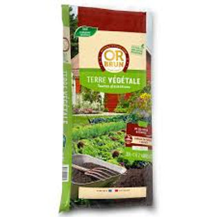 Terre vegetale 25kg or brun (ref : x83030)