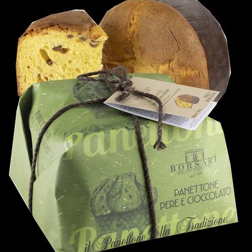Panettone poire/choc.1kg (ref : x80855)