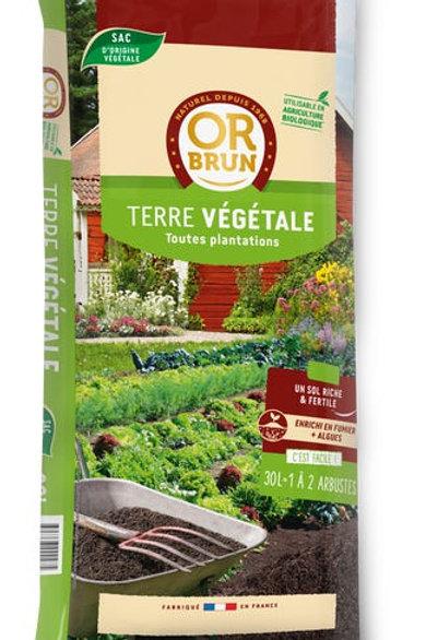 Terre végétale fertile 30l  (ref : w17451)