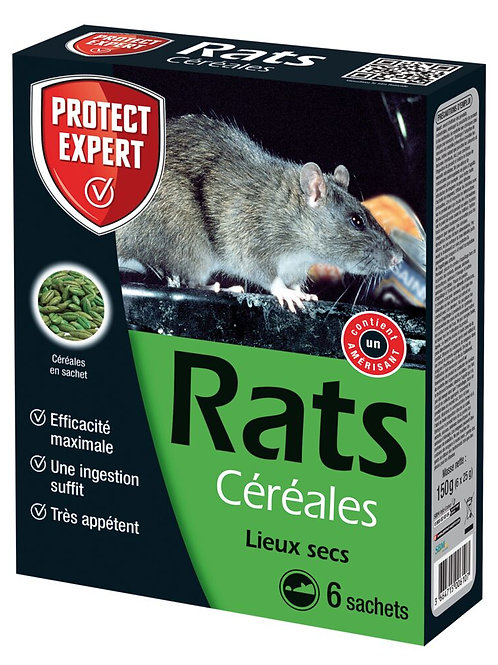 Raticide en grains 150g protect expert (ref : x79382)