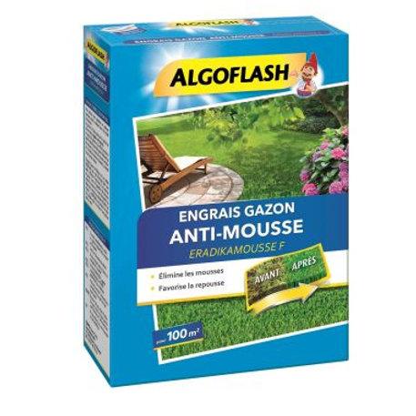 Engrais gazon anti-mousse 3kg algoflash (Ref : X88926)