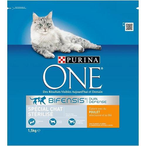 Purina one chat sterilisé poulet 1.5kg (ref : x68154)