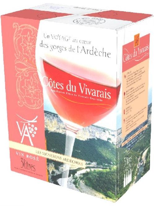 Vin rosé côteaux vivarais.3l (Ref : W32514)
