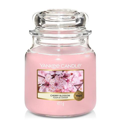 Bougie fleur de cerisier - moyenne jarre (ref : m90101)