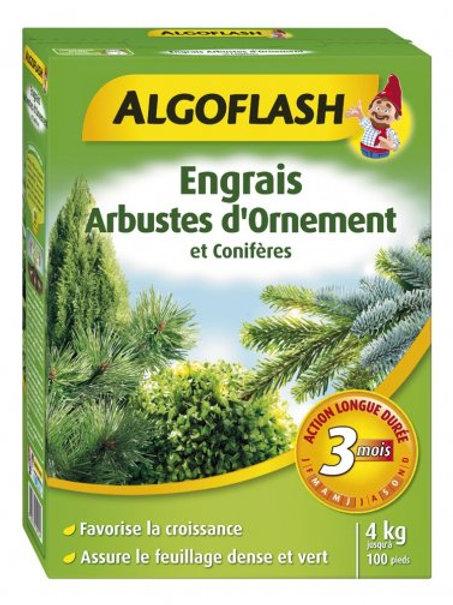 Engrais buis et conifères action longue durée 4kg algoflash (Ref : T01802)
