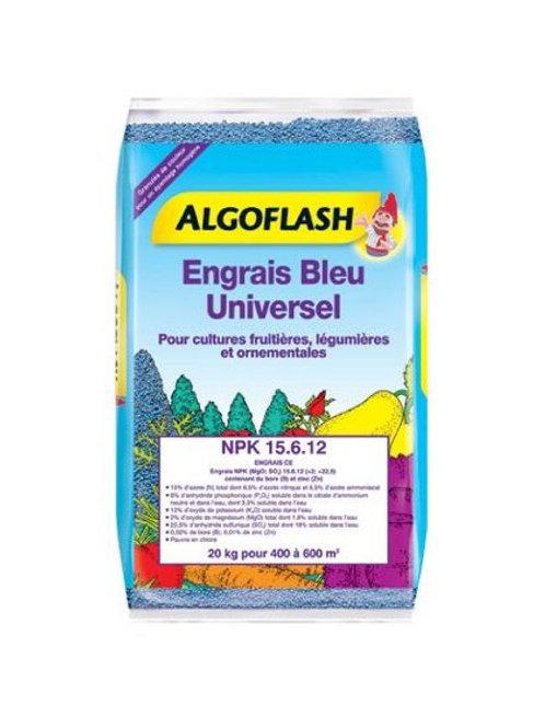 Engrais bleu universel 20kg algoflash (Ref : 433916)
