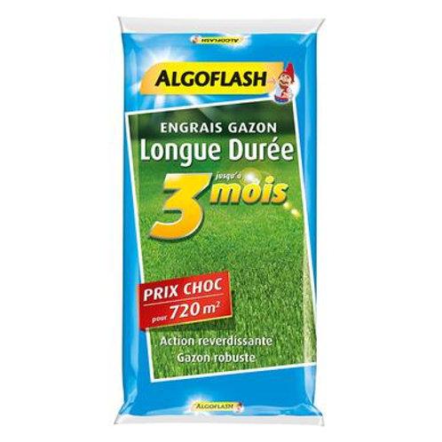 Engrais gazon longue durée 3 mois 18kg prix choc algoflash (Ref : X69114)