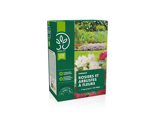 Engrais rosier et arbustes UAB 3kg Gamm Vert (ref : x82776)