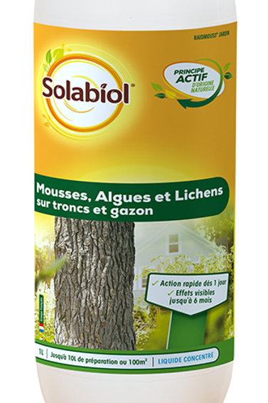 Anti mousses algues lichens tronc et gazon 1l solabiol (ref : x58839)