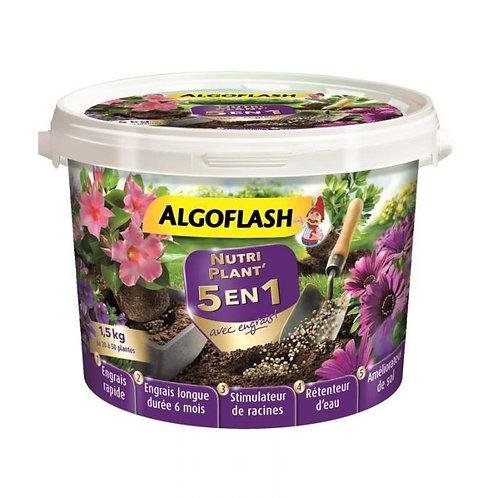 Nutriplant' 5 en 1 avec engrais toutes plantes 1.5kg algoflash (Ref : X75139)