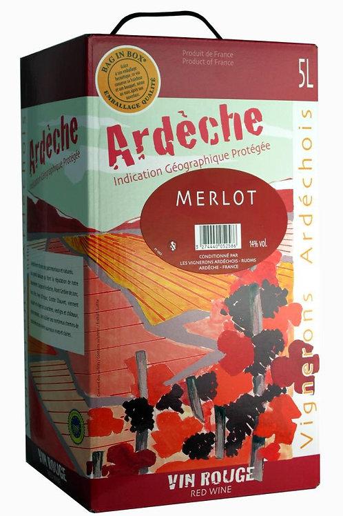 Vin rge igp merlot 5l (ref : w19606)