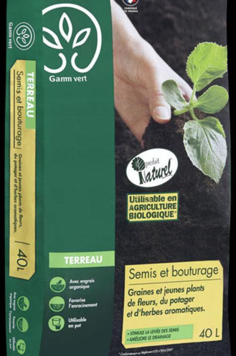 Terreau semis et bouturage 40l Gamm Vert (ref : w75675)