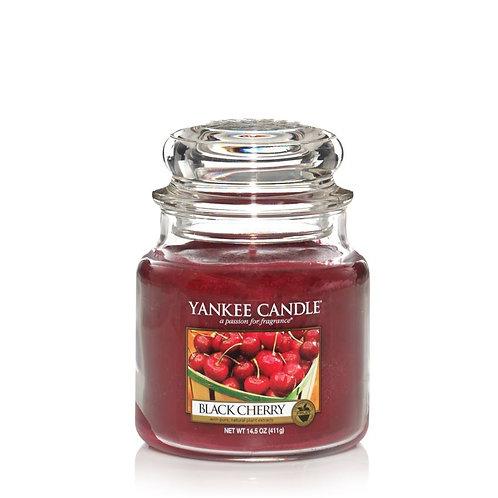Bougie cerise griotte - moyenne jarre (ref : m90072)