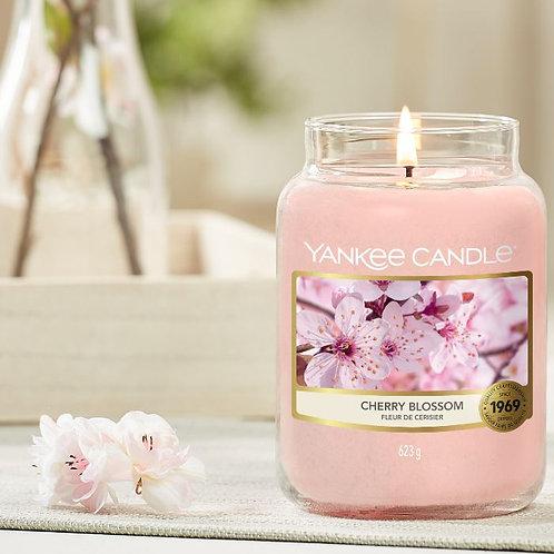 Bougie fleur de cerisier - grande jarre (ref : m90100)