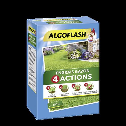 Engrais gazon 4 actions 4kg algoflash (Ref : X82610)