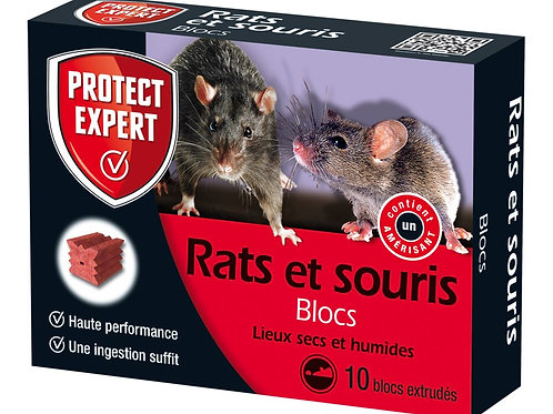 Raticide souricide blocs 300g protect expert (ref : x79385)
