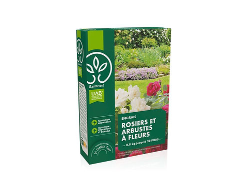 Engrais rosier et arbustes UAB 800g Gamm Vert (ref : x82777)