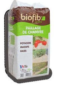 Paillage chanvre 20kg biofib (ref : w04340)