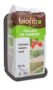 BIOFIB Paillis de Chanvre Bio et Organique AUXINE Jardinerie Alternative/© Pr/êt /à lemploi pour 5 /à 10m/²| Ch/ènevotte Cultiv/ée en France Utilisable en Agriculture Biologique Sac de 20kg 200L
