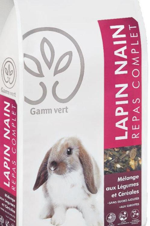 Repas complet lapin nain 3kg Gamm Vert (ref : w64298)