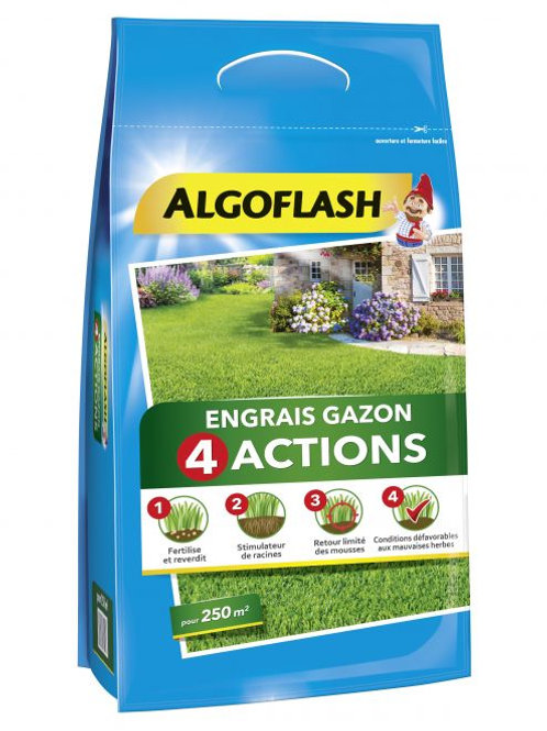Engrais gazon 4 actions 10kg algoflash (Ref : X82607)