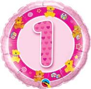 18in Age 1 Pink Teddies 26281
