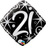 18in Age 21 Sparkles & Swirls 29998