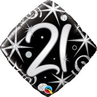 18in Age 21 Sparkles & Swirls 29998