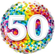 18in Age 50 Rainbow 49543