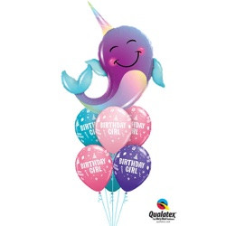 Luxury Narwhal Birthday Girl $39.95