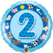 18in Age 2 Blue Farm Animals 26285