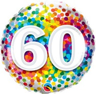 18in Age 60 Rainbow 49548