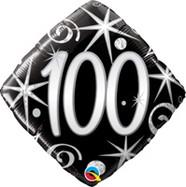 18in Age 100 Sparkles & Swirls 44438