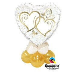 Gold Entwind Hearts Mini Table Topper $14.95