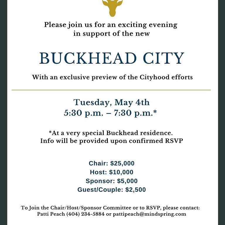 A special evening in support of Buckhead City