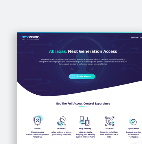 Anyvision - Landing page