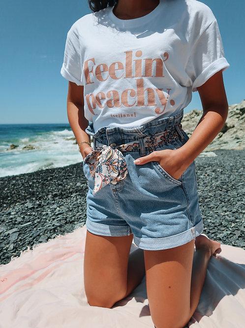 "T-shirt ""Feelin' Peachy"""