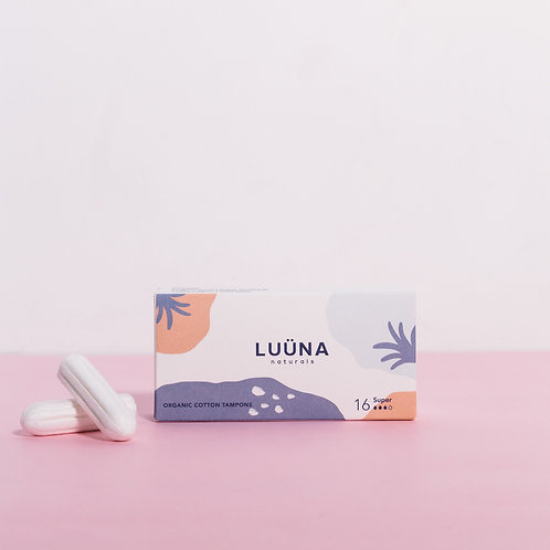 LUÜNA naturals - Organic Cotton Non-Applicator Tampons Super Absorbency
