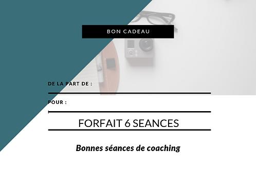 BON CADEAU 6 SEANCES COACHING DE VIE + 1 MINI SESSION OFFERTEE