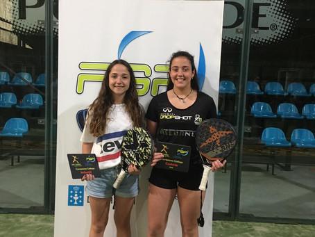 Carolina Ozon y Laia Álvarez se proclaman Campeonas Gallegas en el Cto. de Menores.
