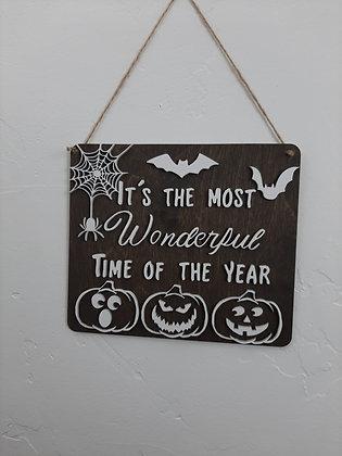 Wonderful Halloween Sign