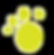 Dog pawprint logo