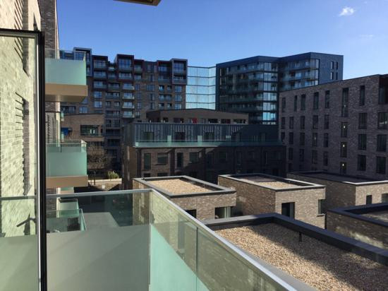 Balcony view from a Countryside apartment in Greenwich Millennium Village London